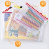 Good Price Portable Transparent B5 PVC Stationery Storage Student Teacher Officer Document File Bag
