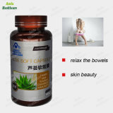 Health Food Aloe Vera Softgels, Natural Plant Extract Aloe Vera Oil Capsule for Relieve Constipation, Skin Beauty Herbal Aloe Vera (0.5g/ particles*60)