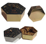 Drawer Hexagonal Shape Cardboard Paper Gift Packaging Box with Silk Insert