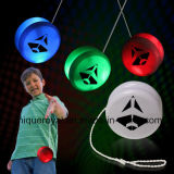 "2"" White Plastic Light up Yoyo with Green /Red Glow LEDs"