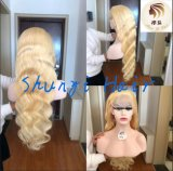 Wholesale Blonde Top Quality Remy Virgin Human Hair Brazilian Body Wave Full Lace Wig