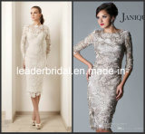 3/4 Sleeves Lace Mother of The Bride Dress Tea Length Party Evening Dress M1316