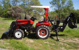Jinma 254 Tractor with Backhoe and Front End Loader 25HP 4WD EPA4 Diesel Engine