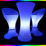 Rainbow Bar Table Bar Chair Color Change Table and Chair