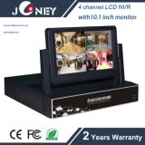 Hot Sell NVR-6204b Joneytech 4 Channel LCD NVR with 7 Inch LCD Monitor