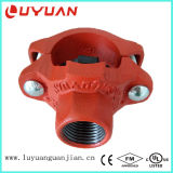 Ductile Iron Grooved and Thread Mechanical Tee for Pipe Joining with ASTM a-536