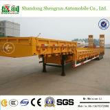 Low Bed Semi Trailer 3 Axles for Kazakhstan Shengrun Brand