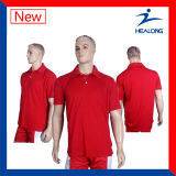 Healong Any Logo Sports Apparel Gear Heat Transfer Printing 100% Polyester Polo Shirts