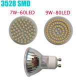 3W MR16 GU10 12V 220V 80LEDs LED Spotlight