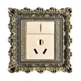 Brass Wall Power Switch Socket with Antique Patterns