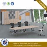 Black Steel Leg Conference Table Desk Wooden Office Furniture (UL-NM011)