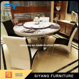 Dining Set Adjustable Banquet Table with Round Glass Top