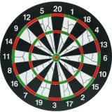 "Professional Style 15"" Thickened Double-Sided Paper Flocking Dartboard"