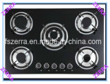 8mm Thickness Black Tempered Glass Panel Gas Hob (JZS5605)