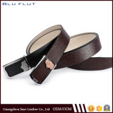 Special Christmas Gift Custom Carving Logo Steel Buckle Leather Belt