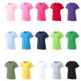 Wholesale Cheap Plain Tee Custom Logo 180g Cotton Print T-Shirt in Bulk Women T Shirt