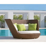 Water-Proof Leisure Lying Bed Rattan Beach Sofa (Cl-1020