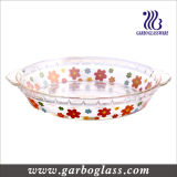 High Quality Heat-Resistant Glass Baking Dish with Decal (GB13G21255 TH 002)