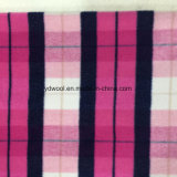Napping Check Wool Fabric for Overcoat