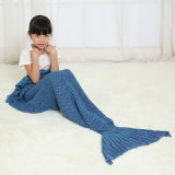 Handmade Crochet Mermaid Blanket Throw Bed Sofa Wrap Sleeping Bag