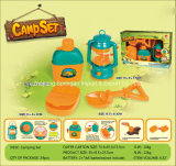 Boutique Playhouse Plastic Toy-Camping Set with Water Bottle & Oil Lamp