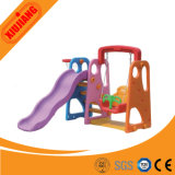 Kids Small Plastic Slide with Swing Set