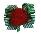 Fashion Christmas DOT Printing Hair Decoration Hair Bows