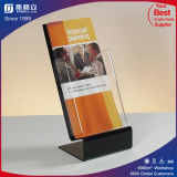 L Shape Plastic Menu Holder Acrylic Sign Holder