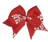 Red Grosgrain Ribbon Hair Clip Hair Bow