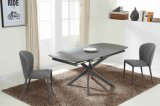Factory Customized Rotary Metal Extension Dining Table for Living