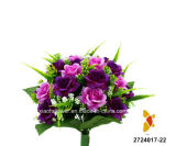 Artificial/Plastic/Silk Flower Rose Bush (2724017-22)
