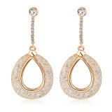 Latest Dubai Gold Jewelry Alloy Fashion Drop Dangle Earring