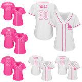 Cheap Women's Los Angeles Dodgers Yasiel Puig Cool Base Jersey
