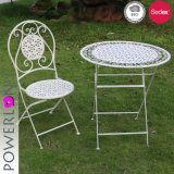 Wrought Iron Folding Patio Set Shabby Chic Style