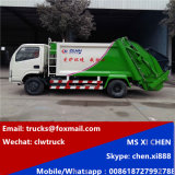 Right Hand Drive 4X2 3tons DFAC Compress Garbage Truck