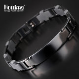 Best Stainless Steel Health Bio Elements Plated Black Bracelet