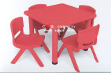 4-Seaters Red Plastic Table and Chair for Kids (SF-17K-5)