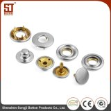 Clothes Round Color Matching Metal Prong Snap Button