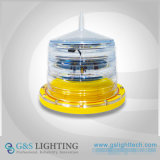 Low Intensity Solar Powered Aircraft Warning Light Beacon Obstruction Light
