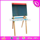 New Design Children Educational Toys Wooden Adjustable Chalkboard Easel with Sketchpad W12b109