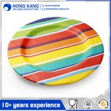 Non-Disposable Multicolor Dinnerware Dinner Tableware Plastic Melamine Plate