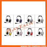 Aviation Headset No Bluetooth Anr Headphones with Electret Mic