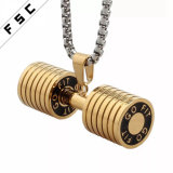 Personalized Fitness Barbell Jewelry Long Dumbbell Pendants Sports Necklace