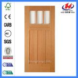 Solid Wood MDF Glass Carved Exterior Wooden Molded Door (JHK-G32-1)