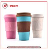Wheat Straw Mug Silicone Cup Creative Portable Outdoor Cup with Cover Student Office Cup