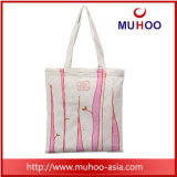 Fashion Canvas Handbag Ladies Tote Beach Cotton Bag with Print