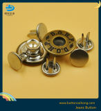 OEM Denim Brass Button with Double Pins Jeans Metal Button