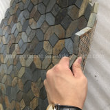 Mesh Rusty Slate Mosaic Tiles for Wall/Flooring