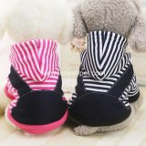 New-Design Striped Pet Handsome Pretty Winter Dog Coat with Hat