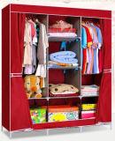 Single Fabric Canvas Clothes Storage Organiser Home Wardrobe Cupboard Shelves (FW-01)